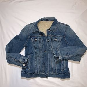 GAP Denim Jacket Lambs Wool Lining